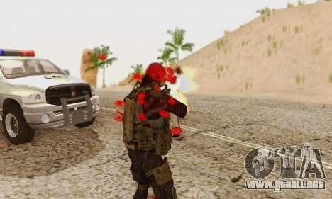 Blood On Screen para GTA San Andreas octavo de pantalla