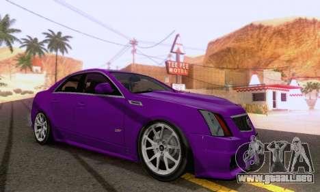 Cadillac CTS-V Sedan 2009-2014 para la visión correcta GTA San Andreas
