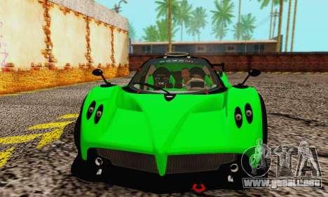 Pagani Zonda Type R Green para GTA San Andreas left