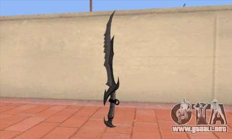 La espada de Skyrim para GTA San Andreas