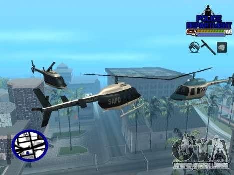 С-Hud Departamento De La Policía De para GTA San Andreas quinta pantalla