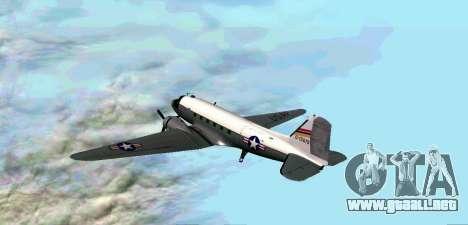 C-47 Dakota de la USAF para la visión correcta GTA San Andreas