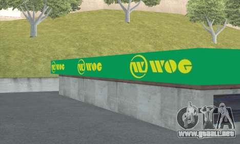 El relleno en el estilo de WOG para GTA San Andreas séptima pantalla