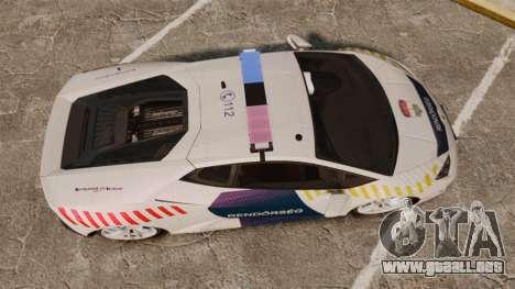 Lamborghini Huracan Hungarian Police [ELS] para GTA 4 visión correcta
