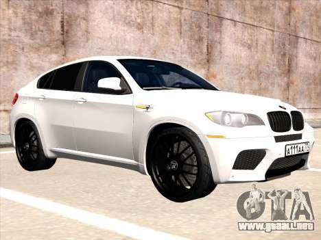 BMW X6 Hamann para GTA San Andreas vista posterior izquierda