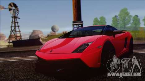 Lamborghini Gallardo LP570-4 Edizione Tecnica para GTA San Andreas vista hacia atrás