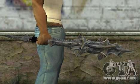 Daedric Sword para GTA San Andreas tercera pantalla