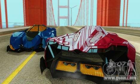 Lamborghini Egoista para la vista superior GTA San Andreas