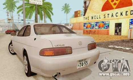 Lexus SC300 v1.01 [ImVehFT] para GTA San Andreas vista posterior izquierda