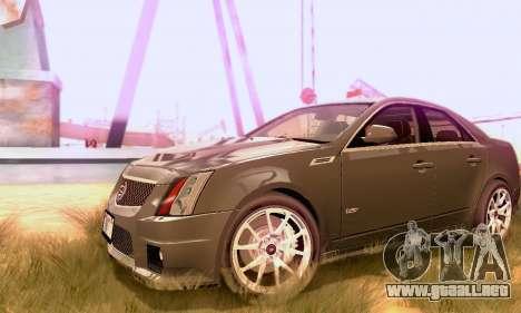 Cadillac CTS-V Sedan 2009-2014 para GTA San Andreas vista hacia atrás