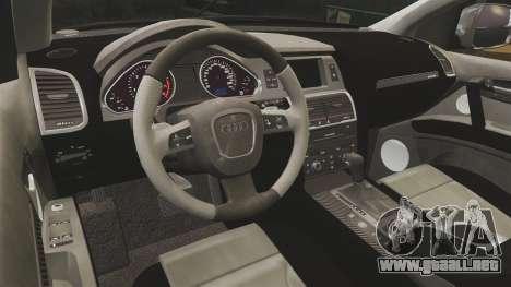 Audi Q7 TEK [ELS] para GTA 4 vista lateral