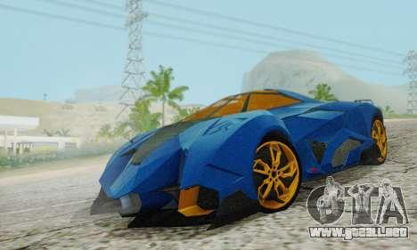 Lamborghini Egoista para GTA San Andreas vista hacia atrás