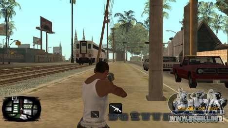 C-HUD Kings of Rap para GTA San Andreas quinta pantalla