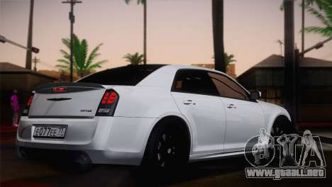 Chrysler 300 SRT8 Black Vapor Edition para GTA San Andreas left