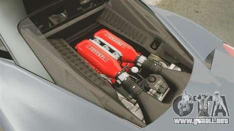 Ferrari 458 Italia para GTA 4 vista interior