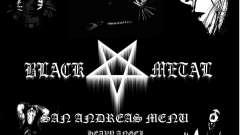 Black Metal Menu