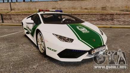 Lamborghini Huracan Cop [ELS] para GTA 4