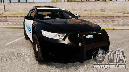 Ford Taurus Police Interceptor 2013 [ELS] para GTA 4