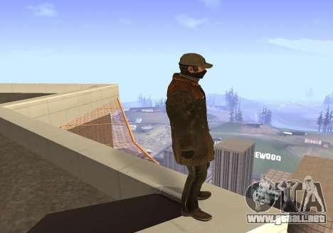 Aiden Pearce para GTA San Andreas tercera pantalla