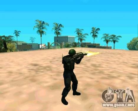 Jackhammer de Max Payne para GTA San Andreas quinta pantalla