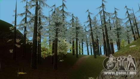 El denso bosque v2 para GTA San Andreas sucesivamente de pantalla