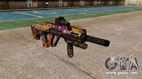 Автомат Steyr AUG-A3 Óptica Graffiti para GTA 4