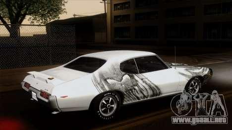 Pontiac GTO The Judge Hardtop Coupe 1969 para vista inferior GTA San Andreas
