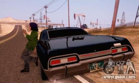 Chevrolet Impala 1967 Supernatural para visión interna GTA San Andreas