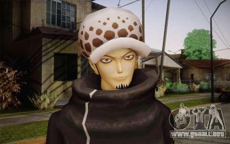 One Piece Trafalgar Law para GTA San Andreas tercera pantalla
