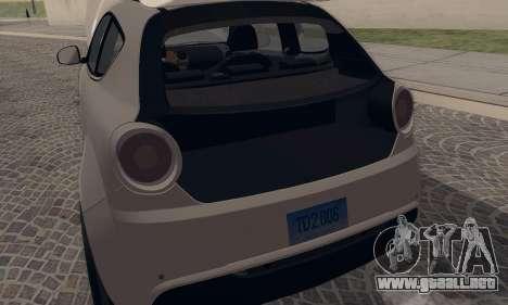 Afla Romeo Mito Quadrifoglio Verde para la visión correcta GTA San Andreas