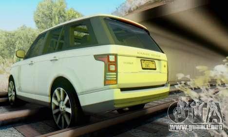Range Rover Vogue 2014 V1.0 Interior Nero para visión interna GTA San Andreas