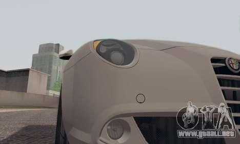 Afla Romeo Mito Quadrifoglio Verde para GTA San Andreas