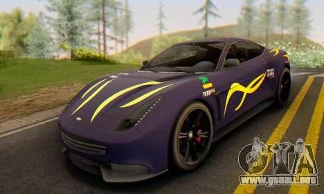 Dewbauchee Massacro 1.0 para la visión correcta GTA San Andreas