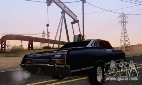 Chevrolet Impala 1967 Supernatural para GTA San Andreas left