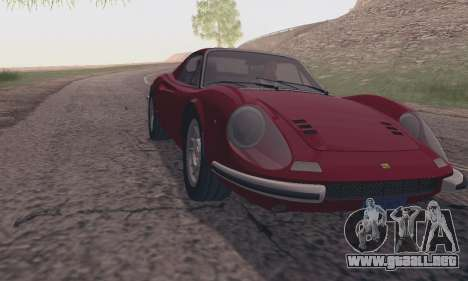 Ferrari Dino 246 GTS Coupe para GTA San Andreas vista posterior izquierda
