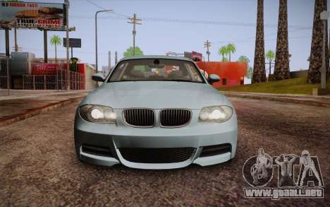 BMW 135i Limited Edition para la vista superior GTA San Andreas