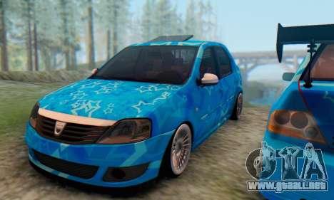 Dacia Logan Blue Star para visión interna GTA San Andreas