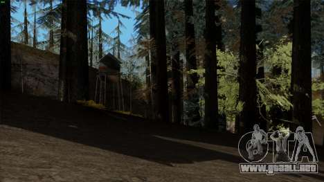 El denso bosque v2 para GTA San Andreas segunda pantalla