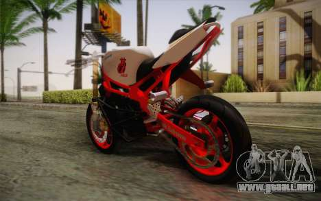 Kawasaki Zx6r Ninja para GTA San Andreas left