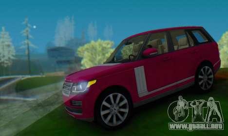 Range Rover Vogue 2014 V1.0 SA Plate para GTA San Andreas vista hacia atrás
