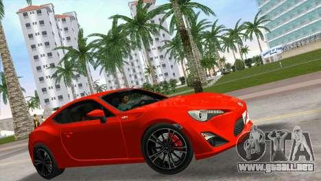 Toyota GT86 para GTA Vice City visión correcta