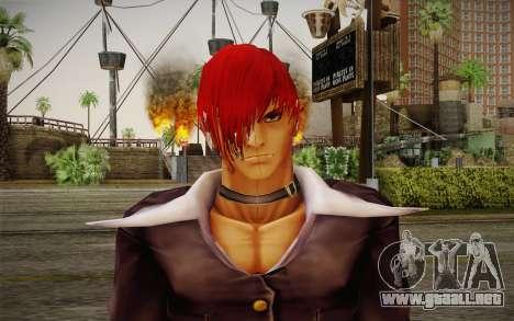 Iori Yagami para GTA San Andreas tercera pantalla