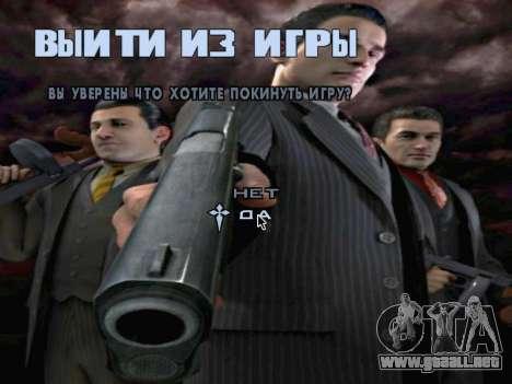 La pantalla de arranque de Mafia II para GTA San Andreas undécima de pantalla
