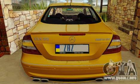 Mercedes-Benz CLK55 AMG 2003 para vista lateral GTA San Andreas