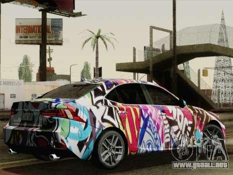 Lexus IS350 FSPORT Stikers Editions 2014 para GTA San Andreas left