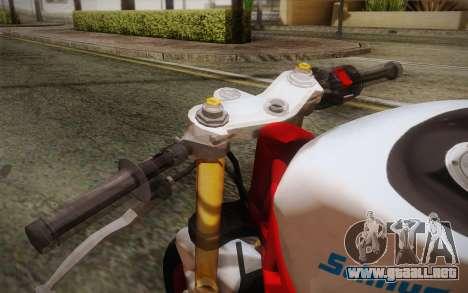 Kawasaki Zx6r Ninja para la visión correcta GTA San Andreas