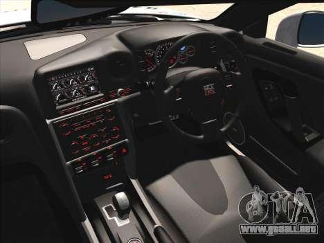Nissan GTR-R35 Spec-V para visión interna GTA San Andreas