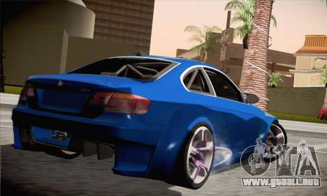 BMW M3 E92 SHDru Tuning para GTA San Andreas left