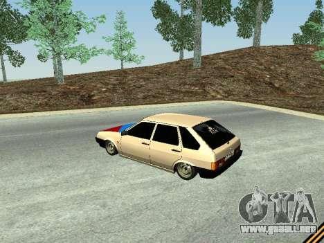 VAZ 2109 para GTA San Andreas vista posterior izquierda