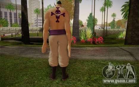 One Piece Whitebeard Edward Newgate para GTA San Andreas segunda pantalla